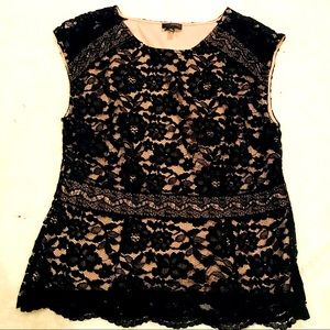 Limited Lace Cap Sleeve Top Size XL